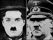 Charlie Chaplin and Adolf Hitler