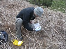 RSPB Investigator recovers eggs illegally injected with pesticides on the edge of the North York Moors