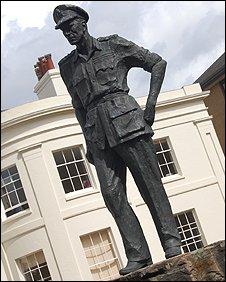The Burma Star Association memorial statue in Southampton