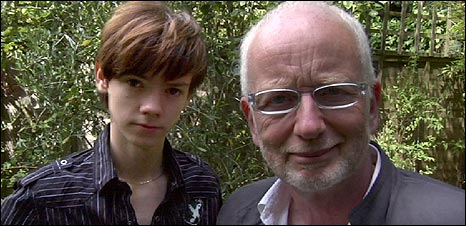 Thomas Sangster and Ian McDiarmid