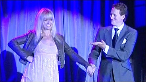 Jo Wood was the first competitor to be introduced on stage