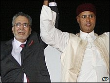 Megrahi and Colonel Gaddafi's son