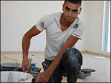 Hossam Hussein, labourer in Maale Adumim