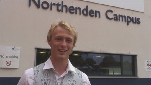 Aaron Dark, a student at Manchester College