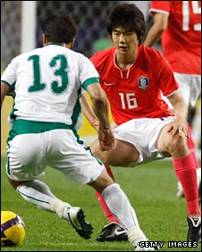 Ki Sung-Yong in action against Saudi Arabia