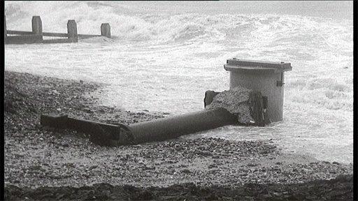 Sewage overflow 1957