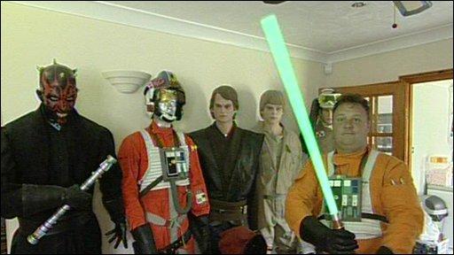 Luke Skywalker and his friends