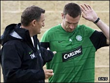 Tony Mowbray and Stephen McManus