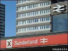 Sunderland Train Station - freefoto.com