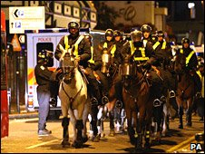 Police at West Ham v Millwall