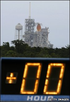 Shuttle on the pad