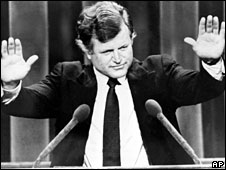 Edward Kennedy at the Democratic National Convention in 1980