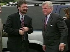 Senator Ted Kennedy helped Sinn Fin's Gerry Adams secure a US visa