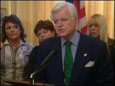 Mr Kennedy refused to meet Gerry Adams in 2005, instead meeting the McCartney sisters