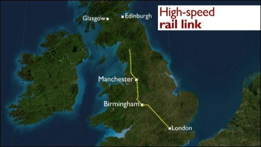Proposed high-speed rail link