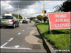 Netherhall Road pothole
