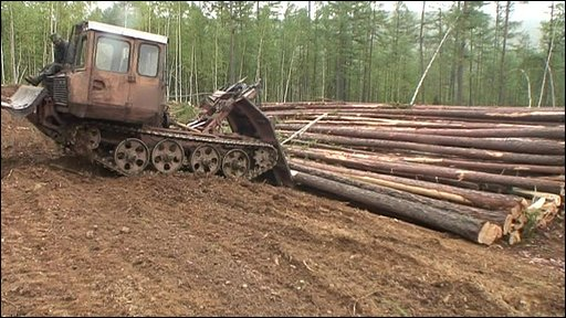 Antiquated logging machinery