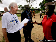 Jimmy Carter in Liberia (2005)