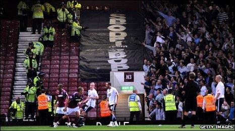 Fans at Upton Park