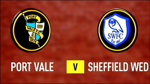 Port Vale v Sheffield Wednesday