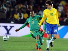 Kagiso Dikgacoi in action against Brazil