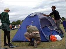 Group pitch tent