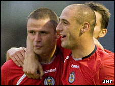 St Mirren strikers Michael Higdon and Billy Mehmet
