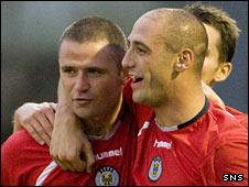 St Mirren strikers Michael Higdon and Billy Mehmet