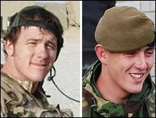 Serjeant Paul McAleese and Pte Johnathon Young