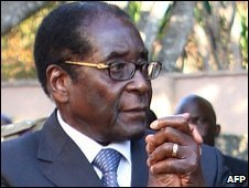 President Robert Mugabe on 26 Aug 2009