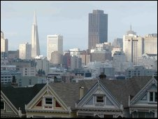The view from Alamo Square, San Francisco