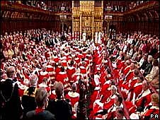 House of Lords at state opening of Parliament