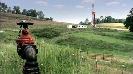 Gas platform in Pennsylvania