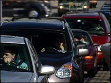 Traffic jam in US