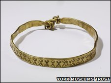 An arm bracelet from the Vale of York Viking Hoard