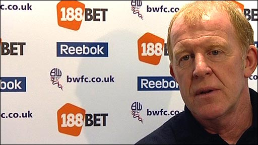 Bolton manager Gary Megson