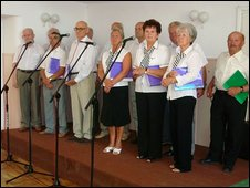 Choir at the community centre in Kielce, Poland
