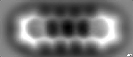 AFM image of pentacene from IBM Zurich