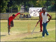 Brescia's Asian cricketeers during the match