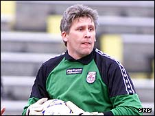 Veteran goalkeeper David Wylie