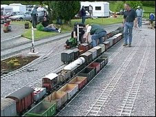 Model trains: Image Ryedale Society of Model Engineers