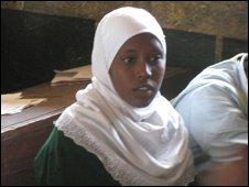 Kenyan school pupil in classroon, Isiolo, Kenya
