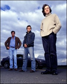 &quot;Top Gear&quot; presenters Jeremy Clarkson, Richard Hammond and James May
