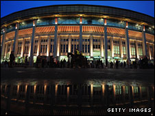 The Luzhniki Stadium, home to CSKA Moscow and venue of the 2008 Champions League final