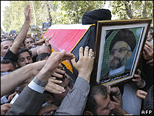 al-Hakim carried through Tehran street