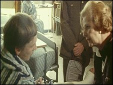 Mrs Thatcher visited people injured in the Narrow Water bombing