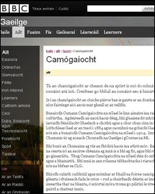 BBC Irish language site