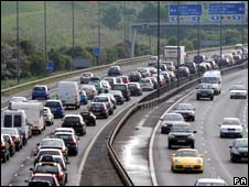 Tailbacks on the M5