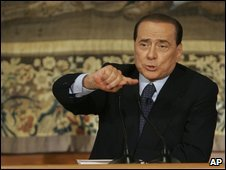 Berlusconi in Rome, 7 Aug