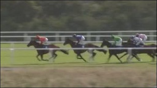 Horse race at Ffos Las